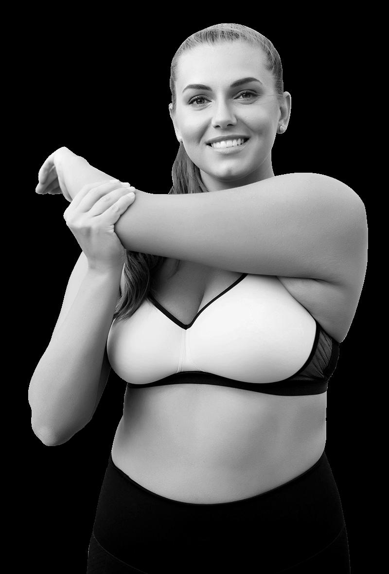 Frau beim Sport machen zur Prävention von Blasenschwäche
